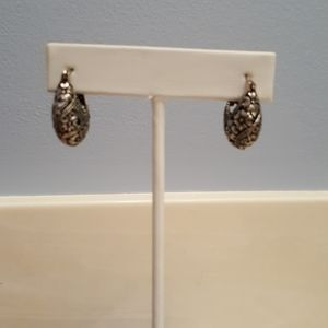 Silver pocket book earrings